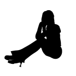 single woman silhouette